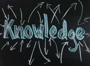 Tafel mit Aufschrift knowledge