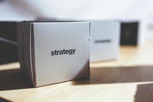 Box mit Aufschrift Strategie