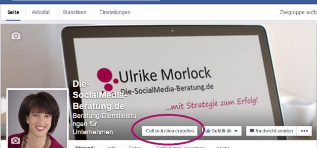 Facebook – Was macht man mit dem Call-to-Action Button?